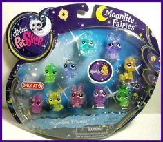 Littlest Pet Shop MOONLITE FAIRIES MOONDUST FRIENDS SET #2809-2818-Sparkly!! | eBay