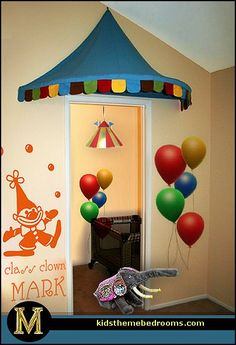 Circus theme classroom on pinterest circus party clowns for Circus themed bedroom ideas