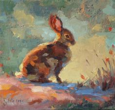 """""""Cottontail"""" - by Sandra L Harris.... ~Oil"""