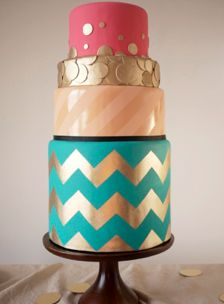 Chevron, polka dots, and stripes don't need to be kept apart just because they are different prints.