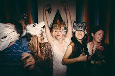 party // photo by JBM Photography // http://ruffledblog.com/aztec-winter-wedding-inspiration #photobooth #weddings