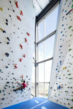 Allez-Up Rock Climbing Gym by Smith Vigeant Architects