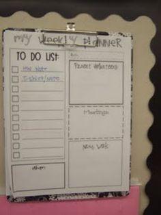 "Free Printable: Weekly Teacher ""To Do"" List"