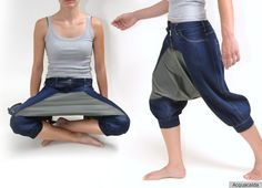 "Picnic Pants: an extra front panel stretches taut when sitting, becoming a ""table"" for your picnic lunch. <-- MC Hammer had no idea he was onto something. Stop! Picnic Time!"
