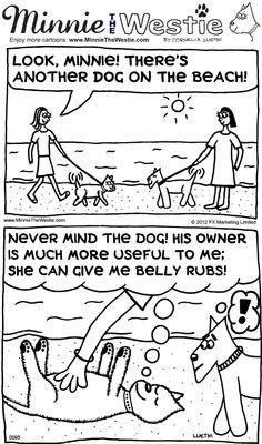 Westie cartoon: dogs vs. humans