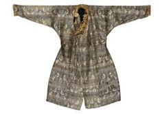 A rare silk robe. Central Asia, 11th-12th century & A very fine Mongol cloth of gold silk robe. Central Asia, 13th-14th century