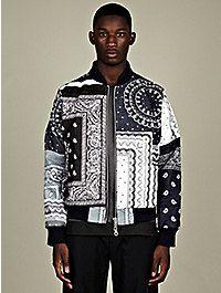 Christopher Shannon Men's Paisley Print Bomber Jacket print bomber, jacket babi, bomber jackets, paisley print