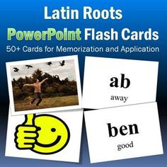 Free!! Latin roots powerpoint flash cards!