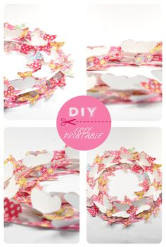 free printable butterfly wreath 6