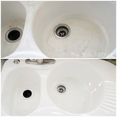 How to get the sink bright white again...... I can't even begin to describe to you how good this works!!!!!