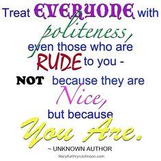 people rude aloof