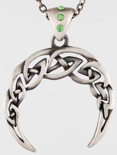 #pagan #wicca #witchcraft #celtic #druid #tarot Celtic Moon Necklace $13.95