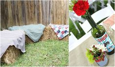 backyard picnic, tin cans, backyard parti