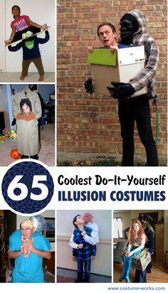 65 Coolest DIY Illusion Halloween Costumes #halloween #diy #costume