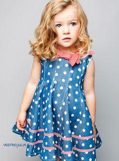 ropa de niñas y niños, polka dots, ropa para niños, dress, moda infantil, ropa infantil, a little princess, vestidos para niña, blues