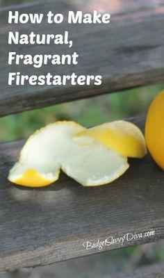 How to Make Natural Firestarters from Lemon Peels