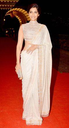 Sonam Kapoor at Ahana Deol and Vaibhav Vora's sangeet ceremony. #Style #Bollywood #Fashion #Beauty