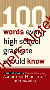 100 Words Every High School Graduate Should Know 1 (INTRODUCTORY PAGE, WORD LIST, and QUIZ for 1-10) from EnglishTeacher1000 on TeachersNotebook.com -  (6 pages)  - 100 Words Every High School Graduate Should Know Vocabulary Lesson #1 (INTRODUCTORY PAGE, WORD LIST, and QUIZ with ANSWERS for words 1-10)