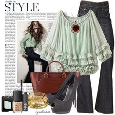 Stylish Outfits - Ruffled Blouse