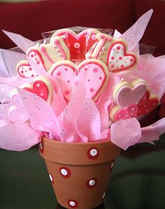 Valentines Cookie Bouquet