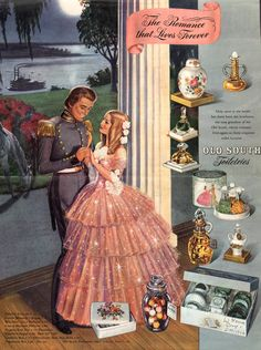 #vintage #ads #perfumes #OldSouth #1940s