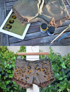 20 Diy Shorts For Crazy Summer, DIY style: leopard print shorts
