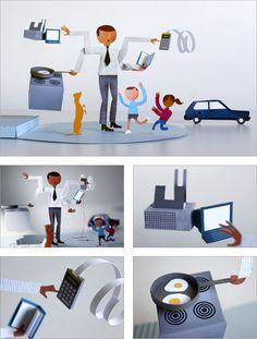 papercraft design, paper engin, cut paper