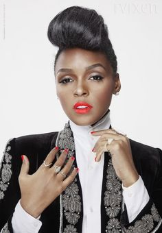 Janelle Monae and her hair...