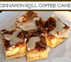 Cinnamon roll coffee cake - - yum!