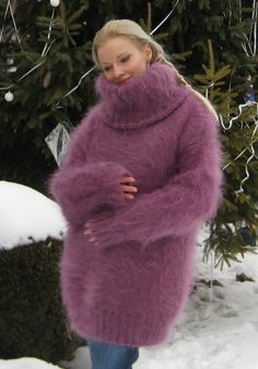Very fluffy hand knitted mohair sweater by Supertanya - OMG..no..words