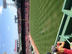 Center Field from the Green Monster seats
