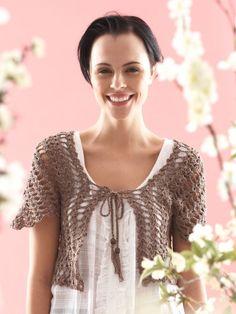 From the Middle Bolero | Yarn | Free Knitting Patterns | Crochet Patterns | Yarnspirations