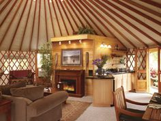 interior, mountain cabins, yurt live, yurts, hous, photo galleries, cozy spaces, yurt living, kitchen layouts