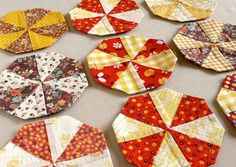 EPP with vintage quilt blocks