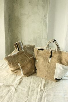 sacs en toile couleurs ♥