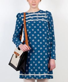 Take a look at this Blue Tunica Pollitos Dress by Titis Clothing on #zulily today!