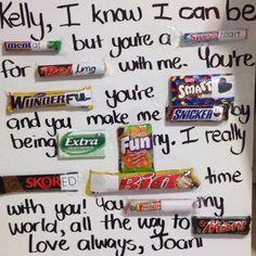 Cute idea for boyfriend/girlfriend :)