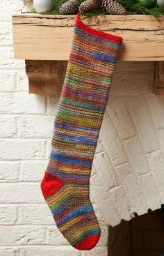 Keepsake Stocking Free Knitting Pattern from Red Heart Yarns