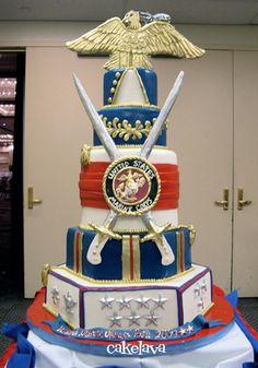 USMC Birthday Ball 07 - Cake Lava http://cakelava.blogspot.com/2013/01