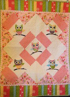 kid babi, babi quilt, baby quilts, owl quilt, patchwork stuff