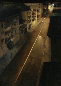 """Tenderloin at Midnight, 72"""" X 52"""", oil on canvas"""