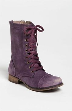 A colorful twist on trooper boots. Steve Madden.
