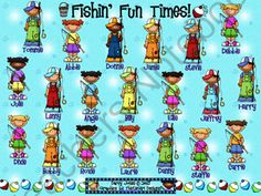 SMARTBoard Attendance - Fishin Fun! from ChangeTheStation on TeachersNotebook.com -  (3 pages)  - SMARTBoard attendance file with a fishing theme