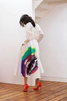 luv d splash of colour on d skirt