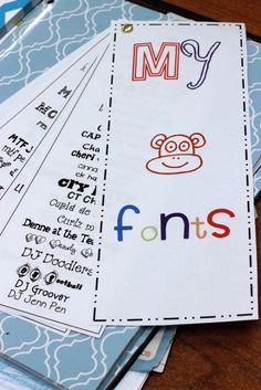 First Grade Blue Skies: How To Organize Your Fonts! Freebie, too!