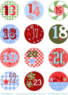 DIY: Freebie Christmas Advent Calendar on FamilyFreshCooking.com