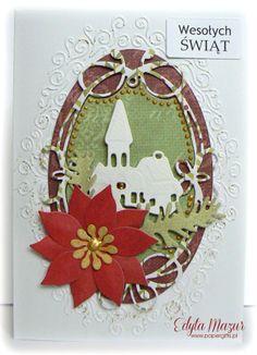 Church with greens - christmas card - Scrapbook.com
