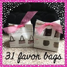 mini thirty-one bags...must learn how to do this and will use pages of old catalogs for party game bags!