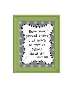Printable Bible Verse Sign with Gray Dots by WeLovePrintableArt,