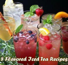 8+Flavored+Iced+Tea+Recipes